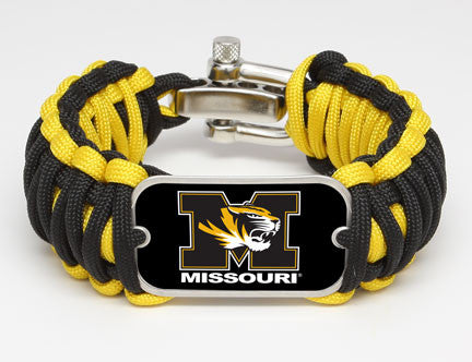 Wide Survival Bracelet™ - Officially Licensed -  University of Missouri® Tigers™