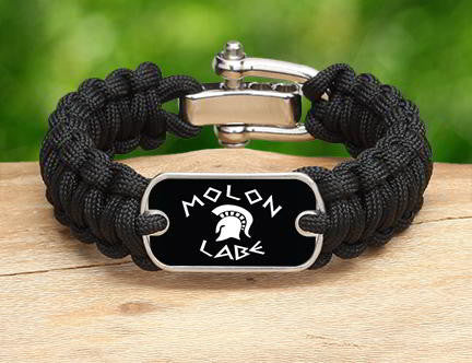 Regular Survival Bracelet - Molon Labe (White)