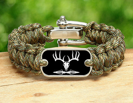 Regular Survival Bracelet™ - Deer Skull and Broadheads