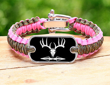Light Duty Survival Bracelet™ - Deer Skull and Broadheads