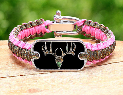 Light Duty Survival Bracelet™ - Camo Deer Skull