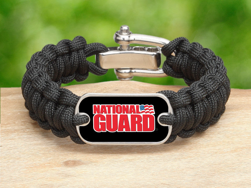 Regular Survival Bracelet™ - National Guard - Black