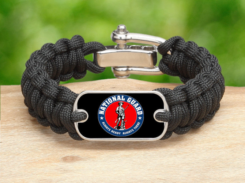 Regular Survival Bracelet™ - Minuteman - Black