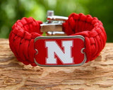 Wide Survival Bracelet - Officially Licensed - Nebraska® Huskers® V2