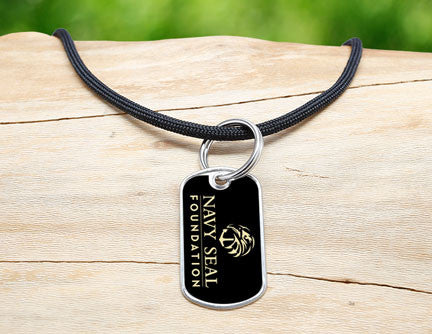 Neck Cord - Navy SEAL Foundation - Black and Sand
