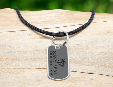 Neck Cord - Navy SEAL Foundation - Black and Pink
