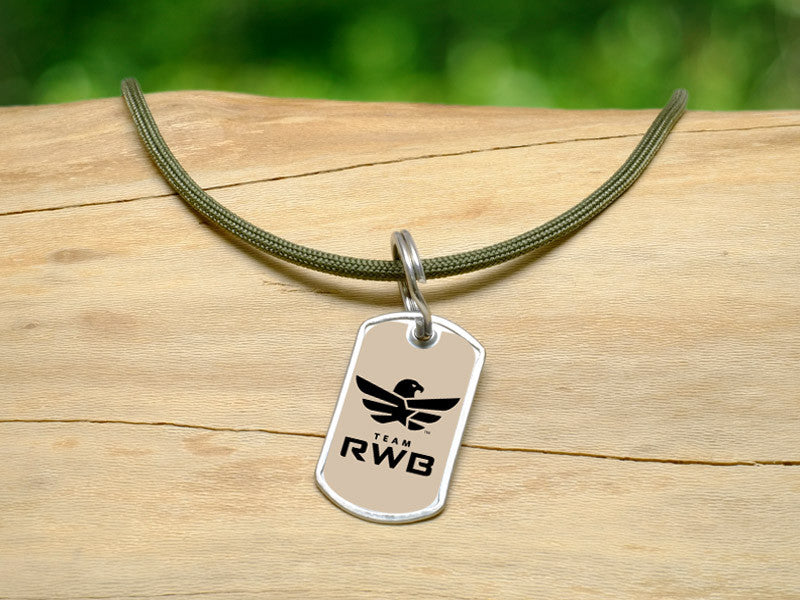 Neck Cord - Team RWB Lt. OD Green