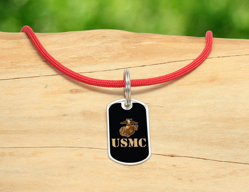 Neck Cord - Gold USMC Logo
