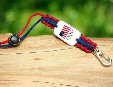 Neck ID Lanyard - Team USA 5-Ring