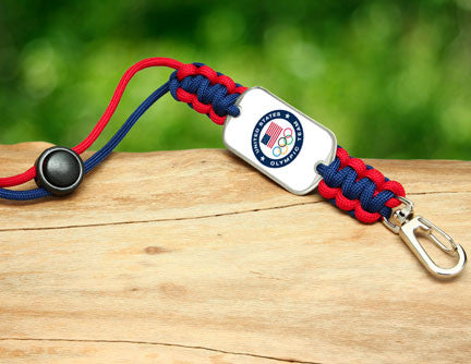 Neck ID Lanyard -US Olympic Team (White)