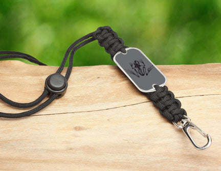 Neck ID Lanyard - Navy SEAL Foundation - Bone Frog Stealth