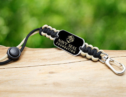 Neck ID Lanyard - Navy SEAL Foundation - Black and Sand
