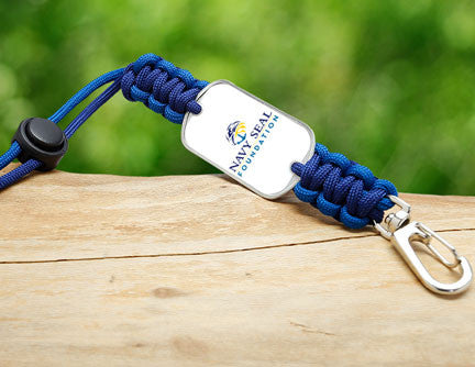 Neck ID Lanyard - Navy SEAL Foundation - Blue and Yellow