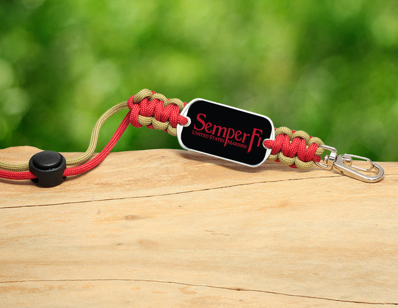 Neck ID Lanyard - Red Semper Fi