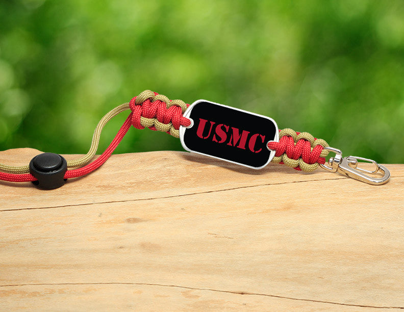 Neck ID Lanyard - Red USMC