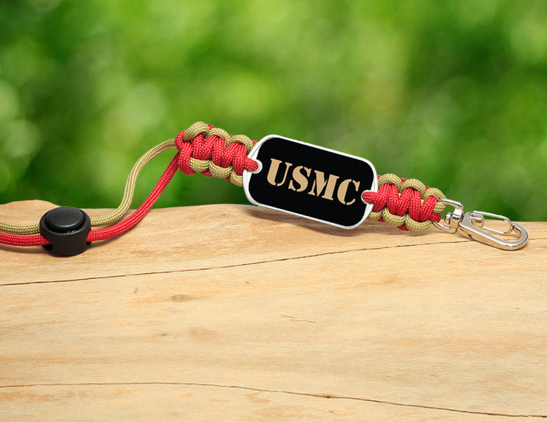 Neck ID Lanyard - Gold USMC