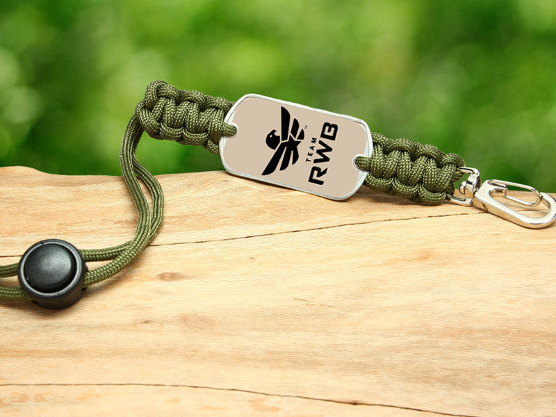 Neck ID Lanyard - Team RWB Lt. OD Green