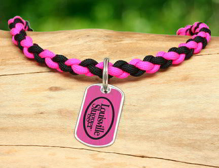 Necklace - Louisville Slugger® - Black and Pink