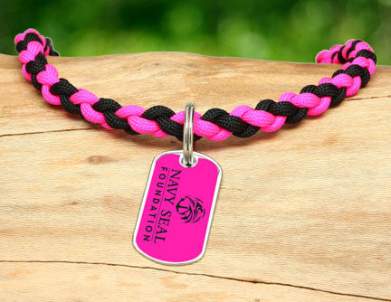 Necklace - Navy SEAL Foundation - Black and Pink