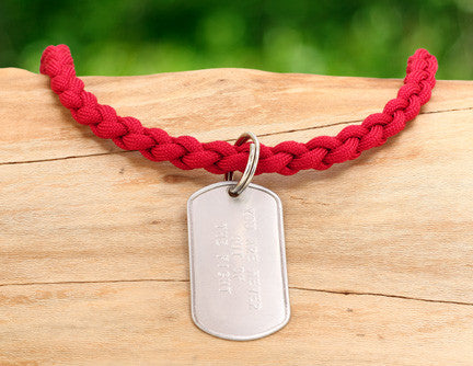 Necklace - RED Friday Custom Embossed