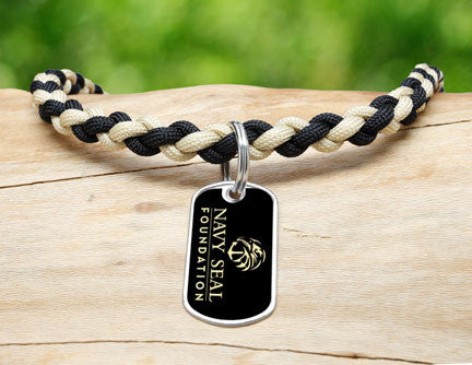 Necklace - Navy SEAL Foundation - Black and Sand