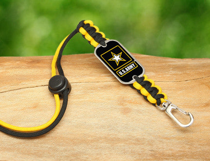 Neck ID Lanyard - Officially Licensed - U.S. Army™ - Black/Yellow