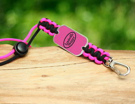 Neck ID Lanyard - Louisville Slugger® - Black and Pink