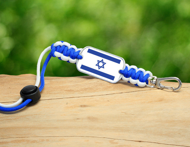 Neck ID Lanyard - Israeli Flag - Blue/White