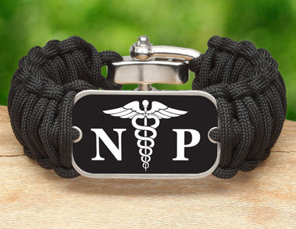 Wide Survival Bracelet™ - Nurse Practitioner Tag