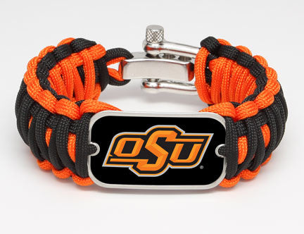 Wide Survival Bracelet™ - Officially Licensed - Oklahoma State Cowboys®