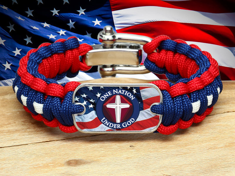 Regular Survival Bracelet™ - One Nation 1 - R. Patriot