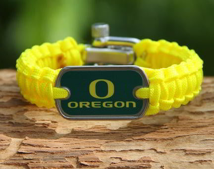 Light Duty Survival Bracelet - Officially Licensed - Oregon Ducks® V2