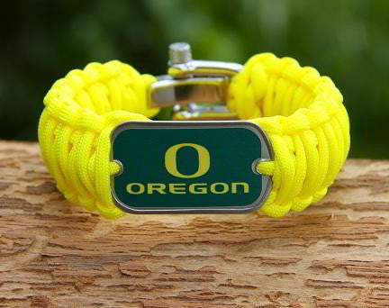 Wide Survival Bracelet - Officially Licensed - Oregon Ducks® V2