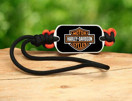 Gear Tag - Harley-Davidson® - Black and Orange