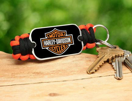 Key Fob - Harley-Davidson® - Black and Orange