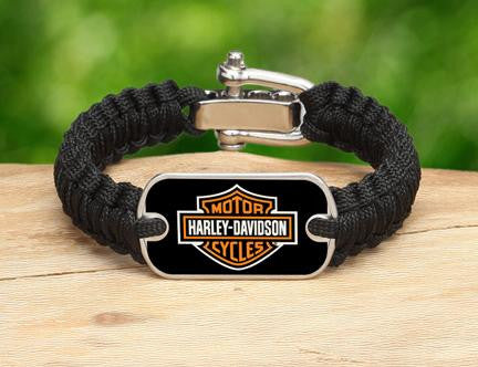 Light Duty Survival Bracelet™ - Harley-Davidson® - Black