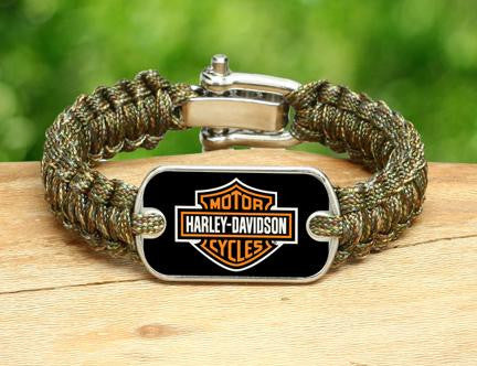 Light Duty Survival Bracelet™ - Harley-Davidson® - Matches Multicam®