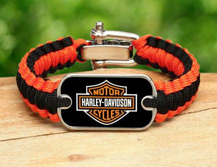 Light Duty Survival Bracelet™ - Harley-Davidson® - Black and Orange
