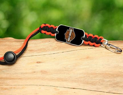 Neck ID Lanyard - Harley-Davidson® - Black and Orange