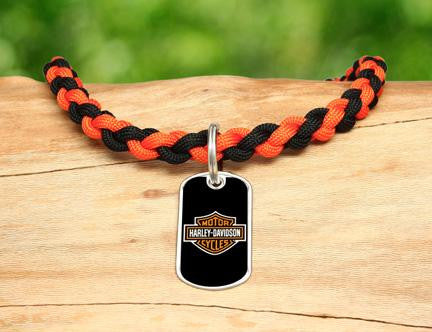 Necklace - Harley-Davidson® - Black and Orange