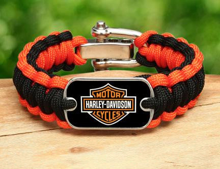 Regular Survival Bracelet™ - Harley-Davidson® - Black and Orange