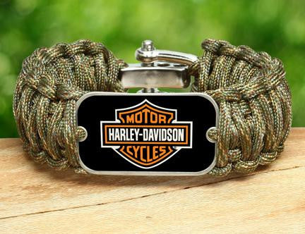 Wide Survival Bracelet™ - Harley-Davidson® - Matches Multicam®