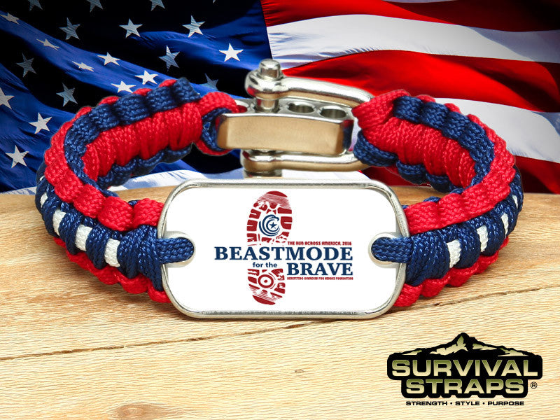Light Duty Survival Bracelet - BeastMode for the Brave (R-Patriot)