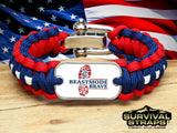 Regular Survival Bracelet - BeastMode for the Brave (R-Patriot)