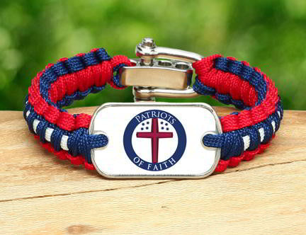 Light Duty Survival Bracelet™ - Patriots Of Faith Logo (Circle)