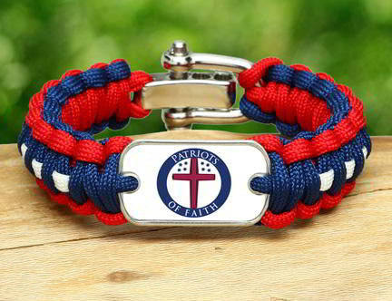 Regular Survival Bracelet™ - Patriots Of Faith Logo (Circle)