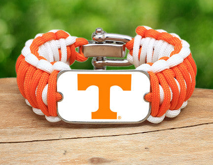 Wide Survival Bracelet - Officially Licensed - Tennessee Volunteers® V2