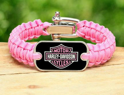 Light Duty Survival Bracelet™ - Harley-Davidson® - Rose Pink