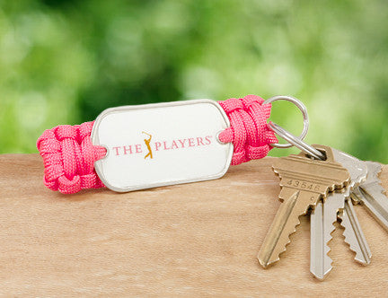 Key Fob - Officially Licensed - The Players® - Coral (White Tag)