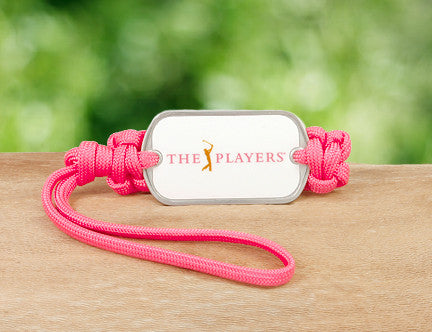 Gear Tag - Officially Licensed - The Players® - Coral (White Tag)